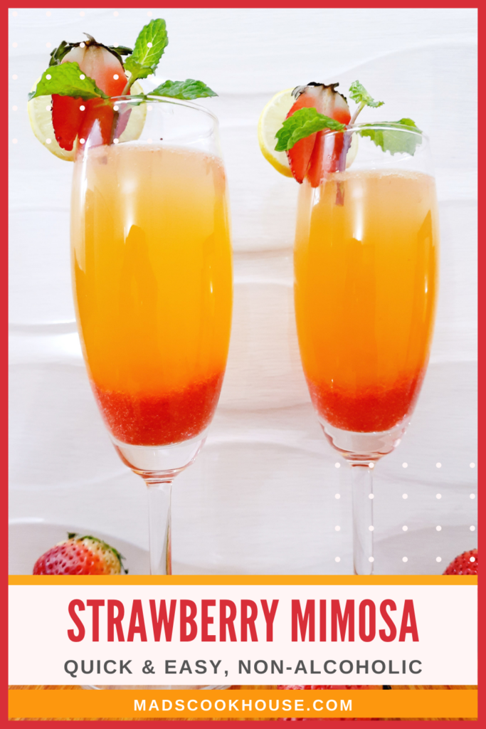 Strawberry Mimosa Mocktail
